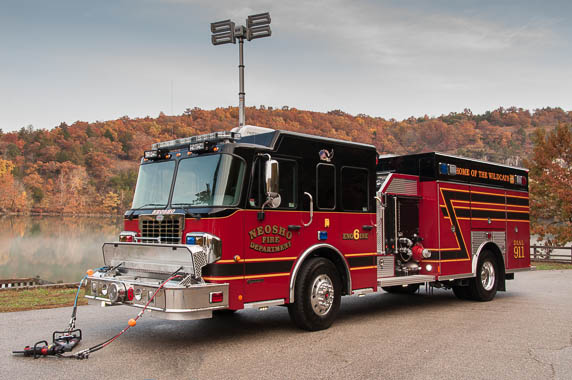 Precision Fire Apparatus Neosho Top Mount Pumper