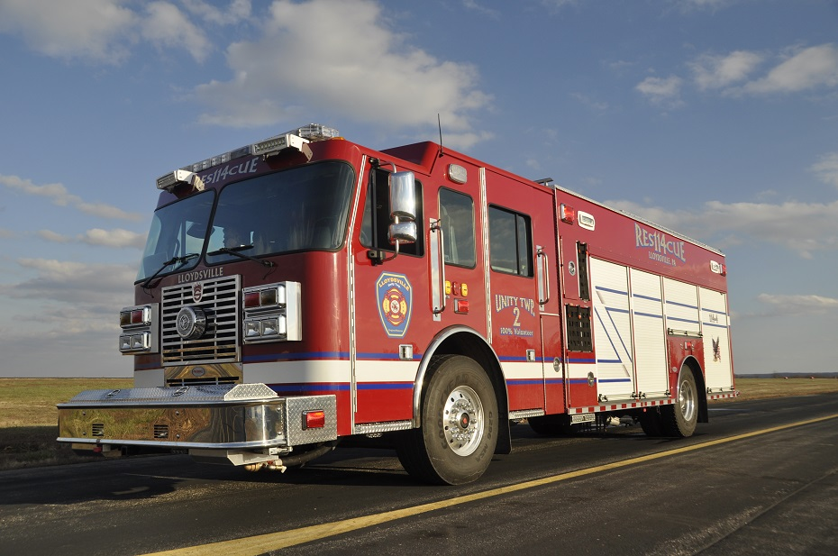 Precision Fire Apparatus Lloydsville Rear Mounted Pumper